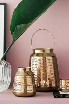 Metalen lantaarn - Goudkleurig - HOME | H&M NL 1