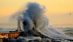 Photos of Massive Waves at Kalk Bay in South Africa - SAPeople - Your Worldwide South African Community All About Africa, South Afrika, African Safari, Ocean Beach, Cape Town, Cool Places To Visit, Landscape Photography, Beautiful Places, Scenery