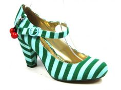 WOMENS POETIC LICENCE IRREGULAR CHOICE THE RIGHT STRIPES GREEN HEEL SHOES SIZE 6 | eBay