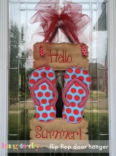 Hang to Dry Applique - Flip Flop Door Hanger, $1.99 (http://www.hangtodryapplique.com/flip-flop-door-hanger/)