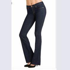 "J Brand Petite Bailey in Pure / dark wash 27/32 Petite/slim fit. Like new!! 8"" rise. J Brand Jeans Flare & Wide Leg"