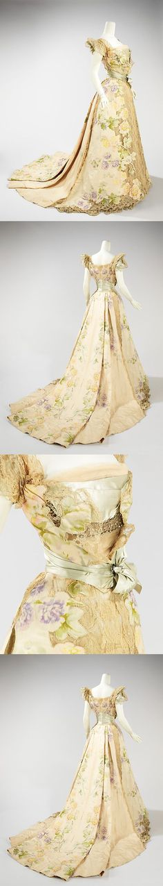 Evening dress, House of Worth, 1902. - Picmia