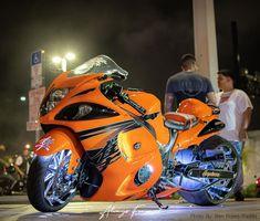 Custom Street Bikes, Custom Sport Bikes, Custom Motorcycles, Suzuki Motorcycle, Motorcycle Design, Custom Hayabusa, Ninja Bike, Biker Boys, Suzuki Hayabusa