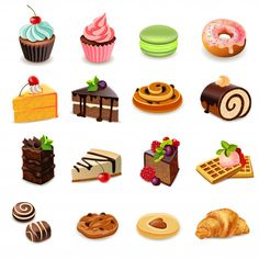Discover thousands of copyright-free vectors. Graphic resources for personal and commercial use. Thousands of new files uploaded daily. Cupcake Vector, Cake Illustration, Food Illustrations, 15th Birthday Cakes, Cake Icon, Realistic Cakes, Gourmet Cakes, Homemade Birthday, Food Icons
