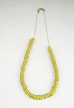 Bead Necklace - Acid Yellow $45 via boutiika.com