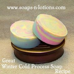Wonderful Cold Process Soap Recipe for dry winter skin.  This soap feels amazing on the skin!