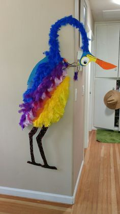 Kevin from Disney Pixar UP movie Made from cardboard, spray paint, feathers & a little imagination