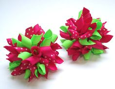 SALE You Choose 10 Pairs Of Mini Korker Hair Bows by AriasBowtique, $39.60