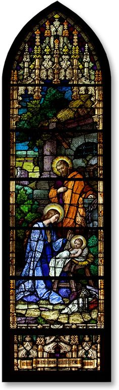 Nativity Stained Glass Window – Saints Peter and Paul Roman Catholic Church, Mankato, MN