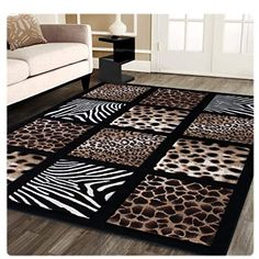 Shop a great selection of Sculpture Modern Area Rug Animal Prints 5 Feet 2 Inch X 7 Feet 3 Inch Design S 251 Black. Find new offer and Similar products for Sculpture Modern Area Rug Animal Prints 5 Feet 2 Inch X 7 Feet 3 Inch Design S 251 Black. Modern Area Rugs, Contemporary Area Rugs, Modern Contemporary, Animal Print Decor, Animal Prints, Animal Print Furniture, African Room, Wooden Wall Panels, Best Carpet