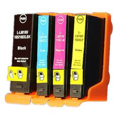 Reman Ink Cartridge for Lexmark 100XLA use in Lexmark Interpret S405 (4-COLOR)