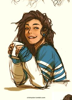 Nothing like a coffee in the morning to put a smile on your face!! Artist, CTCHRYSLER TΛB; Babs ©...