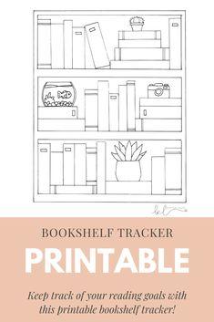 Bullet Journal Books, Bullet Journal Ideas Pages, Bullet Journal Layout, Bullet Journal Inspiration, Book Journal, Reading Tracker, Reading Goals, Goals Printable, Printables