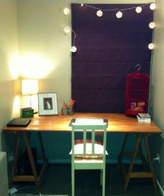 Trestle table using an old door.