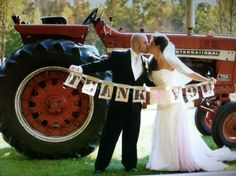 Cute wedding thank-you idea. We would need to have a green tractor tho ;)