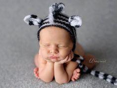 a little zebra hat  luxury hat  newborn photo by MyLittleRarities