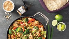 Make it a perfectly balanced plate: Serve with cups veggies and ½ cup cooked rice or rice noodles. Epicure Recipes, Healthy Chicken Recipes, Easy To Cook Meals, Quick Meals, Clean Eating Chicken, Clean Eating Recipes, Health Meal Prep, Thai Stir Fry, Chicken Life