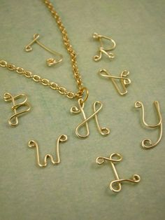 Gold Initial Necklace - Single Letter $20