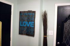 Rustic Vinyl Wall Decal Art Tutorial