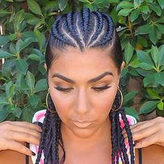 Ghana braids also known as Banana cornrows are stylish, detailed and versatile. Ghana Braids Hairstyles, Cool Braid Hairstyles, African Hairstyles, Hairstyle Ideas, Shaved Side Hairstyles, Kid Hairstyles, Curly Hairstyle, Haircuts, Best Braid Styles