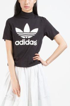 Adidas Originals Black Berlin Trefoil High-neck T-shirt Picture