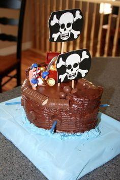 """Mommy Lessons 101: Pirates Birthday Party... argh! 10 fun party ideas for your little pirate including a """"dynamite"""" cake!"""