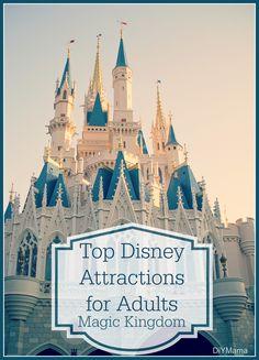 Top Disney Attractions: Adult Version Magic Kingdom