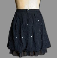 Hey, I found this really awesome Etsy listing at https://www.etsy.com/listing/229807200/black-sequin-layered-skirt