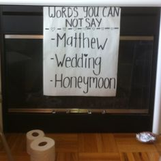 Fun bridal shower game! Note the TP on the floor... that was a good one too.