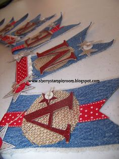 Sherrys Stampin' Room: Patriotic Denim Banner