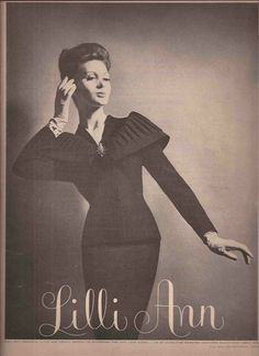 Lilli Ann Fashion Advertisement  -  1960 #LilliAnnFashions
