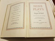 Nine Plays, by Eugene O'Neill Hardback 1940