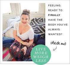 Sarah Jenks | Live More Weigh Less