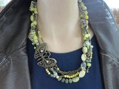 Upcycled Repurposed Multi Strand Bead  Chain by salvagediva, $49.99