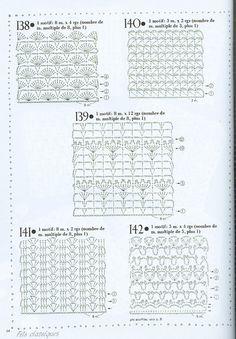 REGINA RECEITAS DE CROCHE E AFINS: croche mais pontos....alguns graficos não possuem muita nitidez, mais olhando as amostras se conseque crochetar bons crochés.