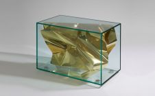 GOLD CRUSH SIDE TABLE