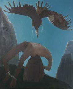 Kyle Staver, Prometheus, 2012 oil on canvas 64 x 54 inches (courtesy of John Davis Gallery)