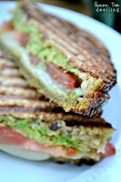 Pesto avocado melt. I am obsessed with pesto lately and this looks too good not to make immediately...