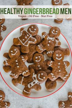 These Vegan Gingerbread Cookies are Crunchy, Fragrant, and Nut Free! The perfect holiday cookie to share with family and friends. Delicious Vegan Recipes, Vegan Desserts, Tasty, Vegan Snacks, Vegan Gingerbread Cookies, Gingerbread Man, Ginger Bread Cookies Recipe, Cookie Recipes, Dessert Recipes
