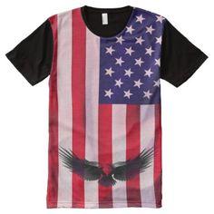 USA eagle 4th of July t-shirt Usa Shirt, Stylish Shirts, Shop Usa, 4th Of July, Eagle, Kids Shop, Mens Tops, Cotton, How To Wear