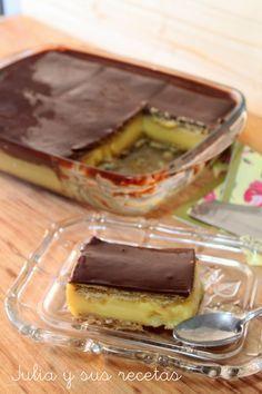 Pastel de queso y toffee Jello Recipes, Cuban Recipes, Apple Recipes, Sweet Recipes, Chocolate Fondant, Chocolate Recipes, Galletas Chocolate, Stewed Apples Recipe, Icebox Cake