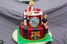 Ajax Barcelona taart