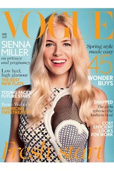 Sienna Miller Pregnant - Non Pregnant Cover for the April Issue of Vogue