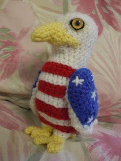 Great Grey Crochet: American Eagle free crochet pattern.