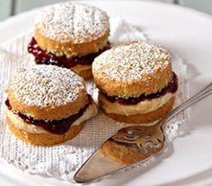 Mini Strawberry and Rose Water Sponge Cakes