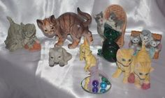 VINTAGE LOT OF 10 x CAT KITTEN KITTY FIGURINES ESTATE FIND UNSEARCHED CUTE! | eBay