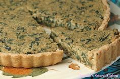 Savory Spinach, Dill and Chickpea Tart with Garlic Oregano Crust  | Roxane's Natural Kitchen http://roxanesnaturalkitchen.blogspot.com/2012/10/spinach-dill-and-chickpea-tart-with.html?m=0