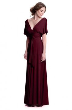 Sakura Burgundy Wine Maxi Convertible Dress - Convertible Dresses - Shop