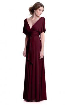 Sakura Burgundy Wine Maxi Convertible Dress - Convertible Dresses - Shop