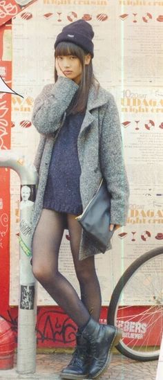 #ulzzang asian street style #fashion #winter
